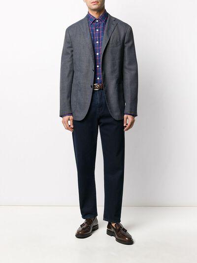 Boglioli однобортный пиджак с накладными карманами N2902JBLC404 - 2