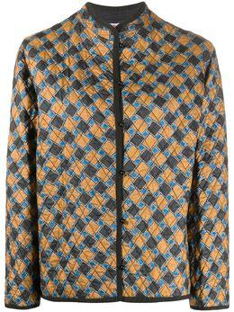 Yves Saint Laurent Pre-Owned стеганая куртка с геометричным узором 130552