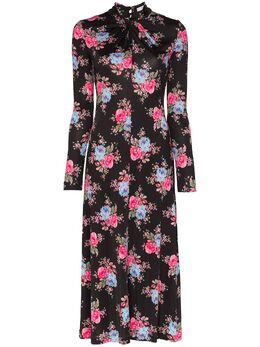 Erdem платье миди Nolene с цветочным принтом SS2021099CRLJ
