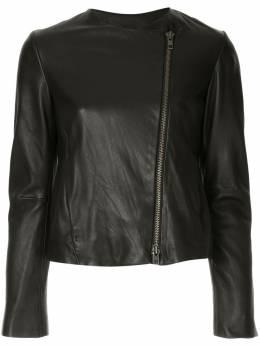 Vince asymmetric leather jacket VR61791048