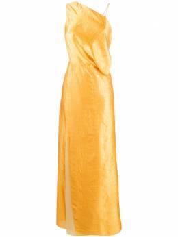 Sies Marjan вечернее платье с драпировкой и тиснением 16JA5282