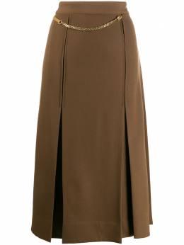 Victoria Beckham юбка со складками и цепочкой 1220WSK001235D