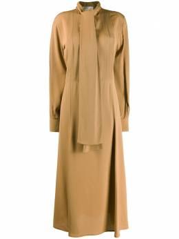 Victoria Beckham расклешенное платье миди с завязками 1220WDR001348A