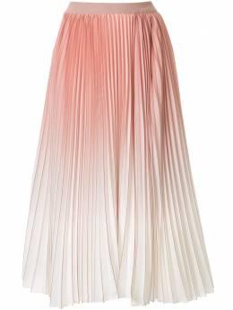 Agnona плиссированная юбка миди с эффектом омбре G603OY