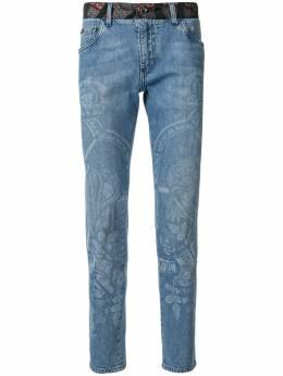Dolce&Gabbana джинсы кроя слим с принтом Henry VIII GYC4LDG8CF3