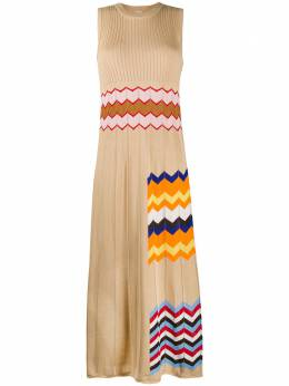 M Missoni платье макси с узором шеврон 2DG003842K005F