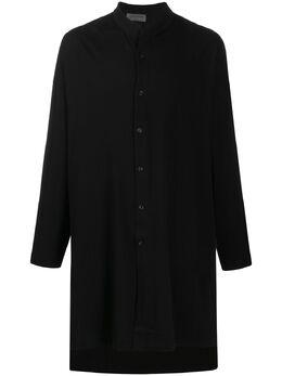 Yohji Yamamoto длинная рубашка с высоким воротником HNT470852