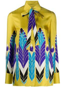 Valentino рубашка Pop Feather с принтом TB3AB16D54E