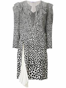 Givenchy платье с разрезом на груди и леопардовым принтом BW206310VP