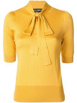 Dolce&Gabbana блузка с бантом FX706TJASIP