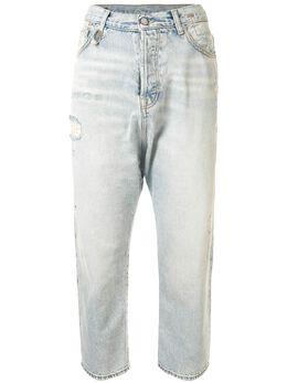 R13 укороченные джинсы с завышенной талией R13W6452278B
