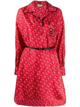 Fendi платье-рубашка FF Karligraphy FDA673A9DR