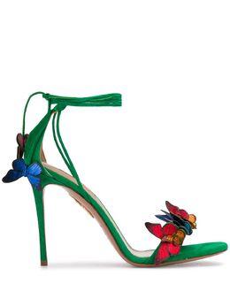Aquazzura сандалии Papillon с аппликацией PPLHIGS0SNLJGR