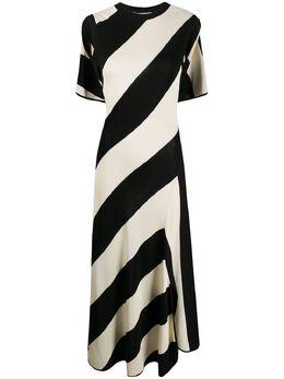 Stella McCartney трикотажное платье миди в полоску 600769S2182