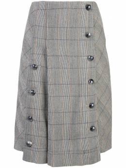 Chloe юбка в клетку на пуговицах C19WJU1716921W