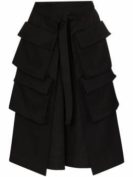 Lemaire юбка миди с карманами карго и завышенной талией W201SK238LF437