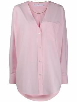 Alexander Wang рубашка оверсайз с глубоким V-образным вырезом 1WC1201300