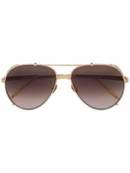 Linda Farrow солнцезащитные очки-авиаторы Newman LFL1039C1SUN