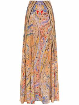 Etro юбка макси с принтом пейсли 133814292