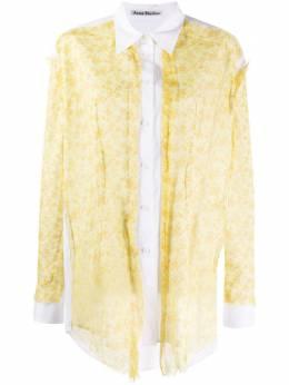 Acne Studios рубашка с цветочным принтом AC0217