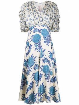 Antonio Marras платье миди с цветочным принтом LB5003TED35S0