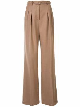 Gabriela Hearst брюки Dora широкого кроя с поясом 320201W018