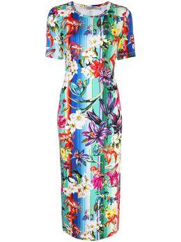 Mary Katrantzou платье в полоску с цветочным принтом NKD068LENNOXDR