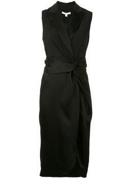 Jonathan Simkhai атласное платье со сборками 1201017F