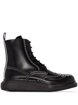 Alexander McQueen ботинки с перфорацией 586199WHX5C