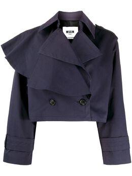 MSGM куртка асимметричного кроя с оборками 2841MDC19207112
