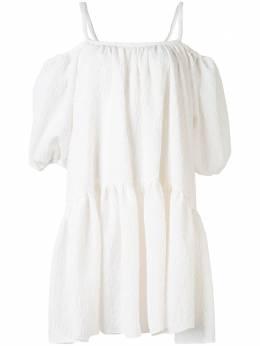 Goen.J платье мини с объемными рукавами GJ20SSDS02