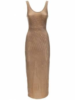 Платье Из Прозрачной Сетки Со Стразами Alessandra Rich 71IRKM023-MDAzMg2