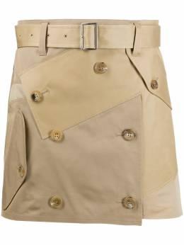 Junya Watanabe деконструированная юбка мини JES032S20