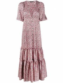 Wandering ярусное платье макси с цветочным принтом WGS20516