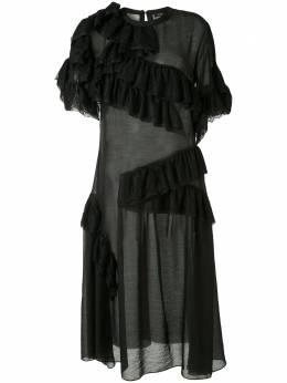 Goen.J платье миди с кружевом GJ20SSDS11