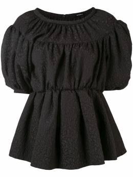 Goen.J блузка с объемными рукавами и баской GJ20SST03