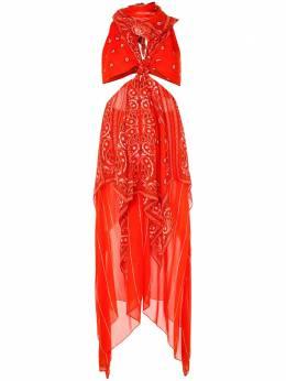 Dion Lee платье-платок с узлом A9666S20