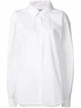 We11Done рубашка на пуговицах с приспущенными плечами WDBL620022W
