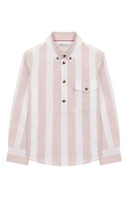 Хлопковая рубашка Brunello Cucinelli BW613C320A