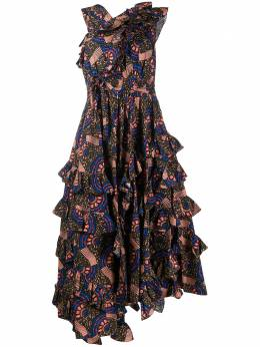 Ulla Johnson ярусное платье Imogen S20SP200117