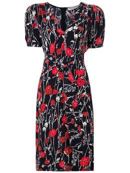 Reinaldo Lourenco платье миди с цветочным принтом 23230161