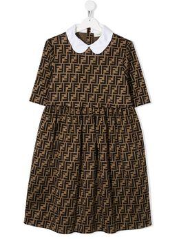 Fendi Kids платье с принтом FF JFB350A6A6