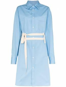 Plan C платье-рубашка с поясом ABCAB07K01TC010