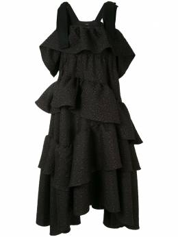 Goen.J ярусное платье миди GJ20SSDS03