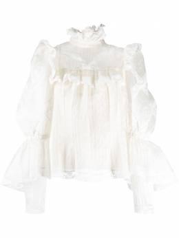 Marc Jacobs блузка в полоску с оборками W6000015101