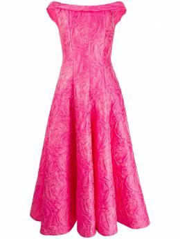 Talbot Runhof жаккардовое платье с узором TOMINI2EG15