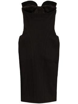 Mugler платье-бюстье со вставками 20R1RO1190245