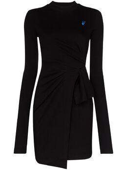 Off-White платье со сборками OWDB241S20FAB0011045