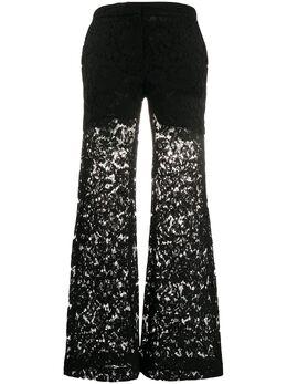 Valentino кружевные брюки широкого кроя TB3RB3L61EC
