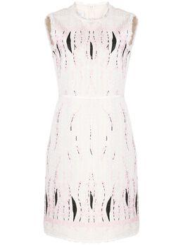Giambattista Valli фактурное платье с цветочным принтом 20SSPVCI554008GBC
